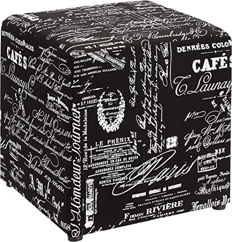 Deal of the week: First Hill Square fabric stores Ottoman style patterns,Black White script pattern fabric