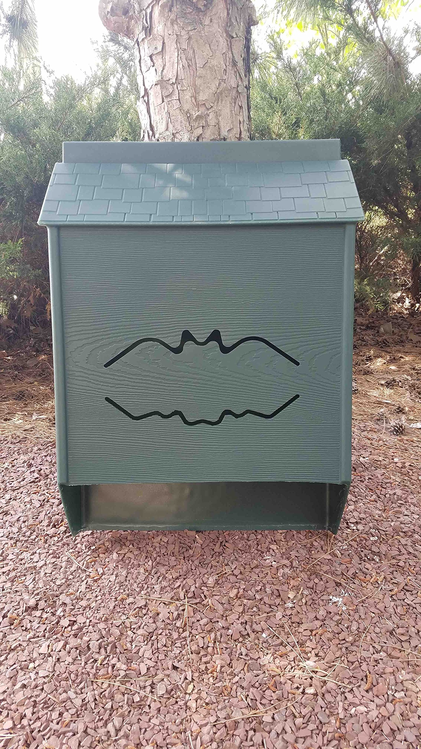 Four Chamber Premium Bat House (Green)