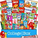 CollegeBox - Snacks Care Package (40 Count) for College Students – Variety Assortment Gift Box Bundle with Treats for Studying and Dorm Rooms – Chips, Cookies, Candy, Final Exams, Easter Sunday