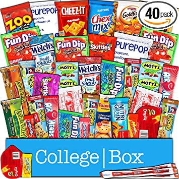 Amazoncom Collegebox Snacks Care Package 40 Count For College