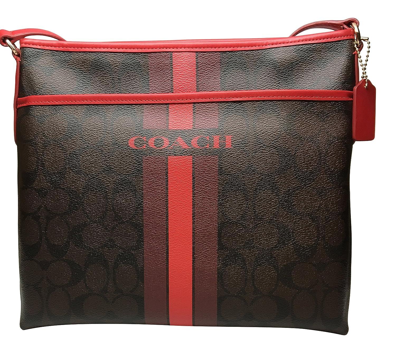 ... Coach Signature Varsity Stripe File Crossbody Bag 850e0cace851d