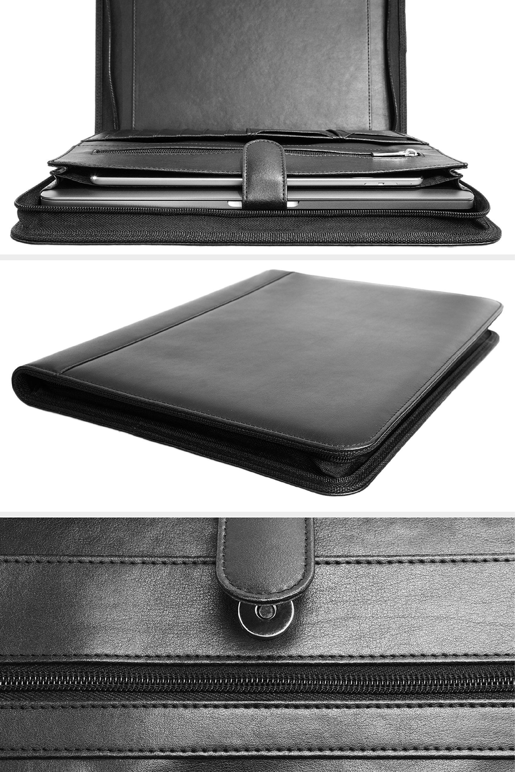 carmel concept professional padfolio with bonus business card holder  pu leather portfolio