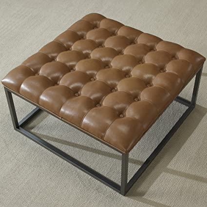 Amazon.com: Coffee Table Ottoman Modern Button Tufted ...