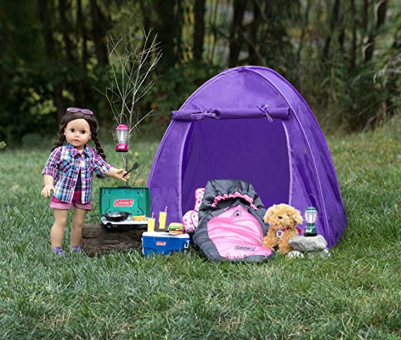 Amazon.com Purple Coleman Doll Tent Perfect for the 18 Inch C&ing American Girl Dolls u0026 More! 18 Inch Coleman Collapsible Doll Tent in Purple Toys u0026 ...  sc 1 st  Amazon.com & Amazon.com: Purple Coleman Doll Tent Perfect for the 18 Inch ...