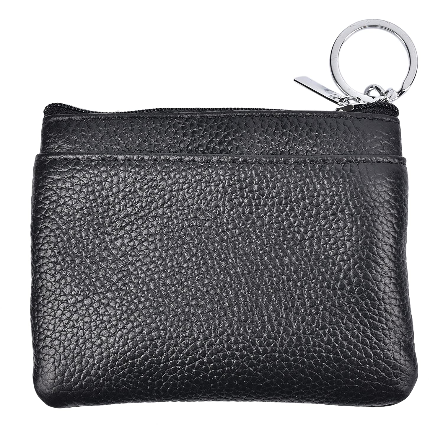48c26767cd5 Amazon.com  Yeeasy Womens Mini Coin Purse Wallet Genuine Leather Zipper  Pouch with Key Ring (Black)  Shoes