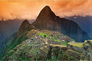 GREAT ART Photo Wallpaper – Machu Picchu – Picture Decoration South America Peru Historical Site Inca City Ruins UNESCO Heritage Cultural Image Decor Wall Mural (82.7x55.1in - 210x140cm)
