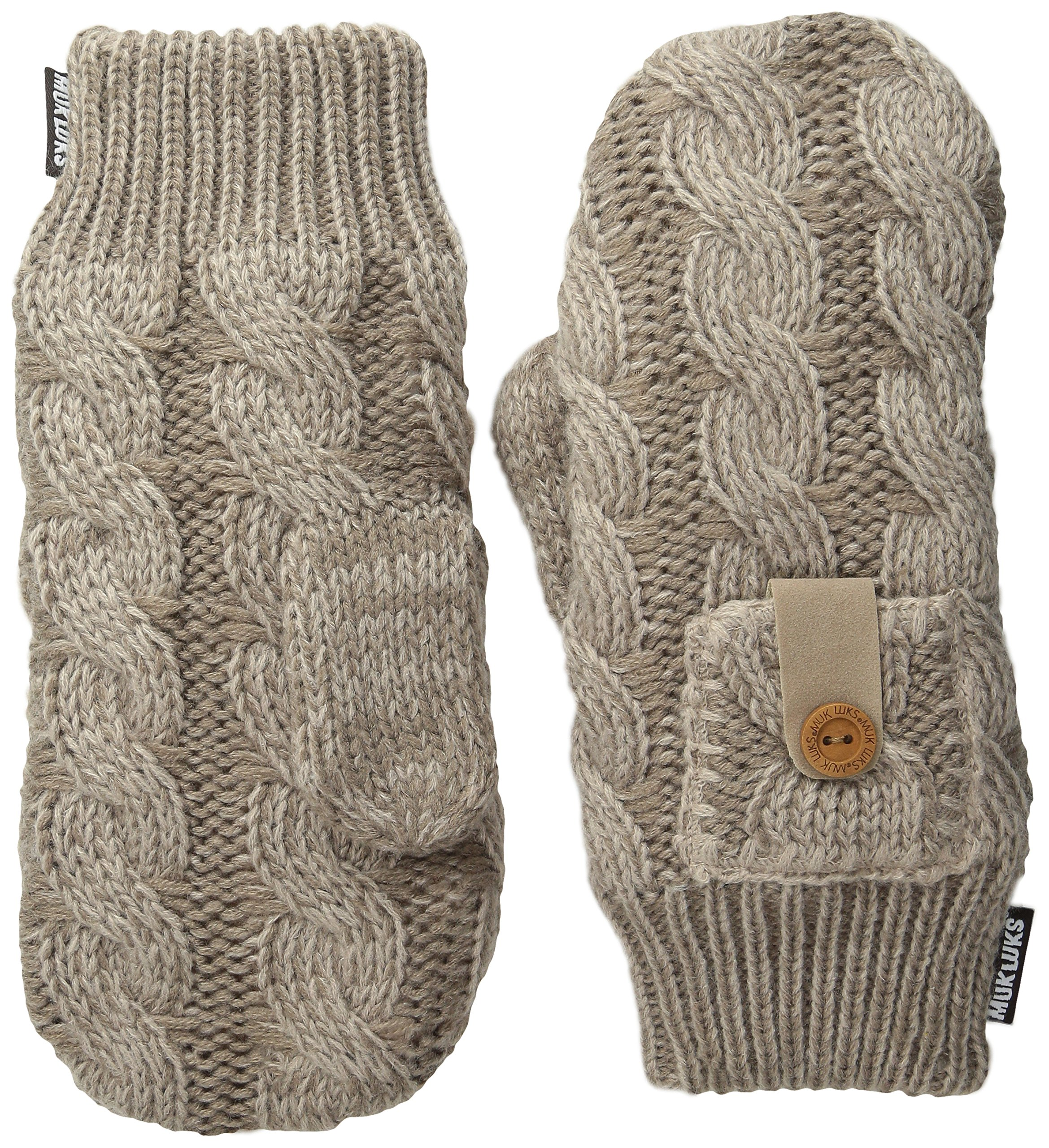 Muk Luks Women's Winter Mittens, Taupe, One Size