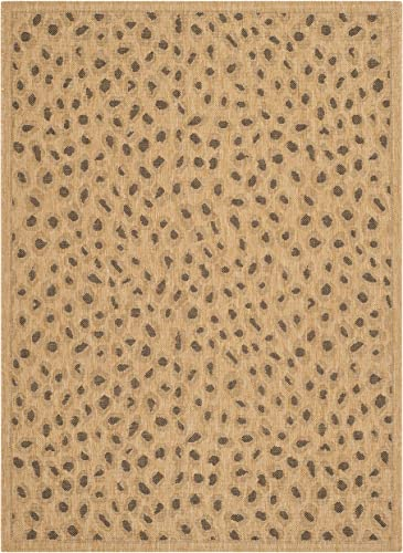 Safavieh Courtyard Collection Indoor Outdoor Area Rug, 9 x 12 , Natural Gold