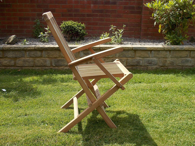 Dos plegable sillones de teca muebles de jardín: Amazon.es ...