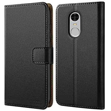 HOOMIL Funda para redmi Note 4, Funda de Cuero PU Premium Carcasa para redmi Note 4 (Negro)