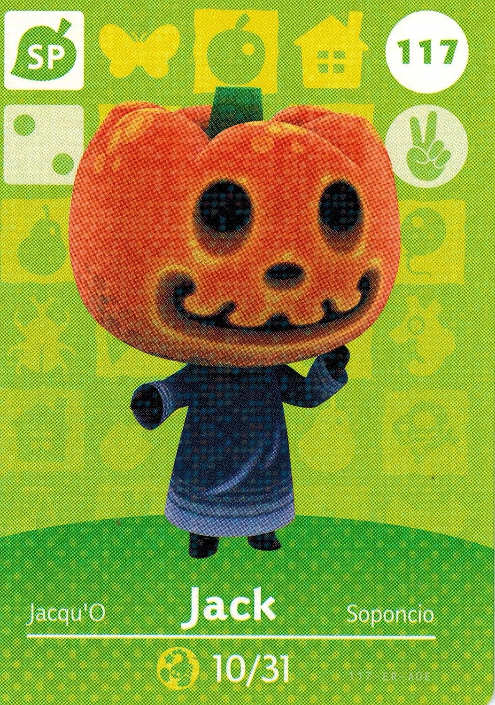 Nintendo Animal Crossing Happy Home Designer Amiibo Card Jack 117/200 USA Version