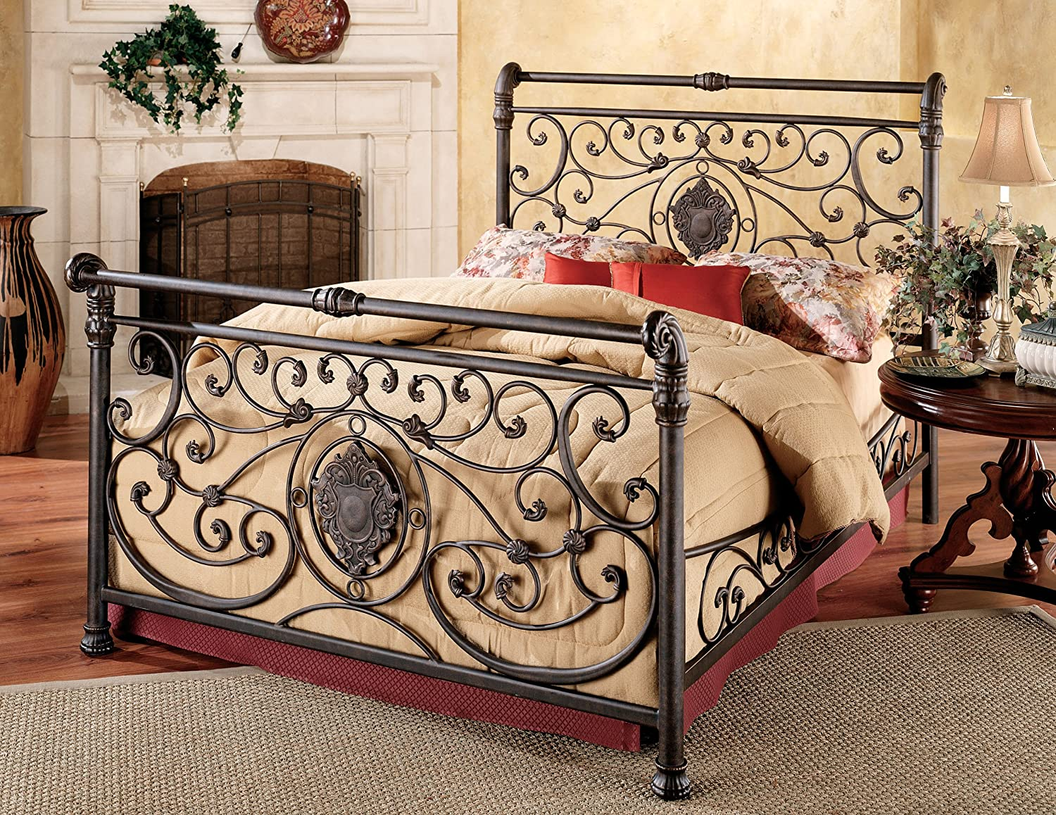 Attractive Amazon.com: Hillsdale Furniture 1039BQR Mercer Bed Set With Rails, Queen,  Antique Brown: Kitchen U0026 Dining