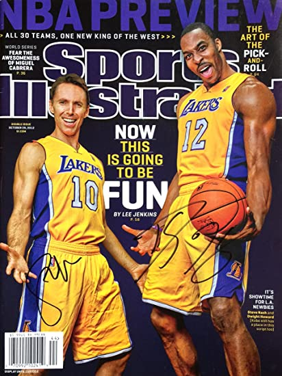 ff5f8643da3 Steve Nash   Dwight Howard LOS ANGELES LAKERS autographed Sports  Illustrated magazine 10 29 12 at Amazon s Sports Collectibles Store
