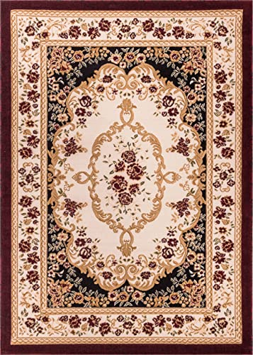 Well Woven Dulcet Versaille Black Traditional Area Rug 7 10 X 9 10