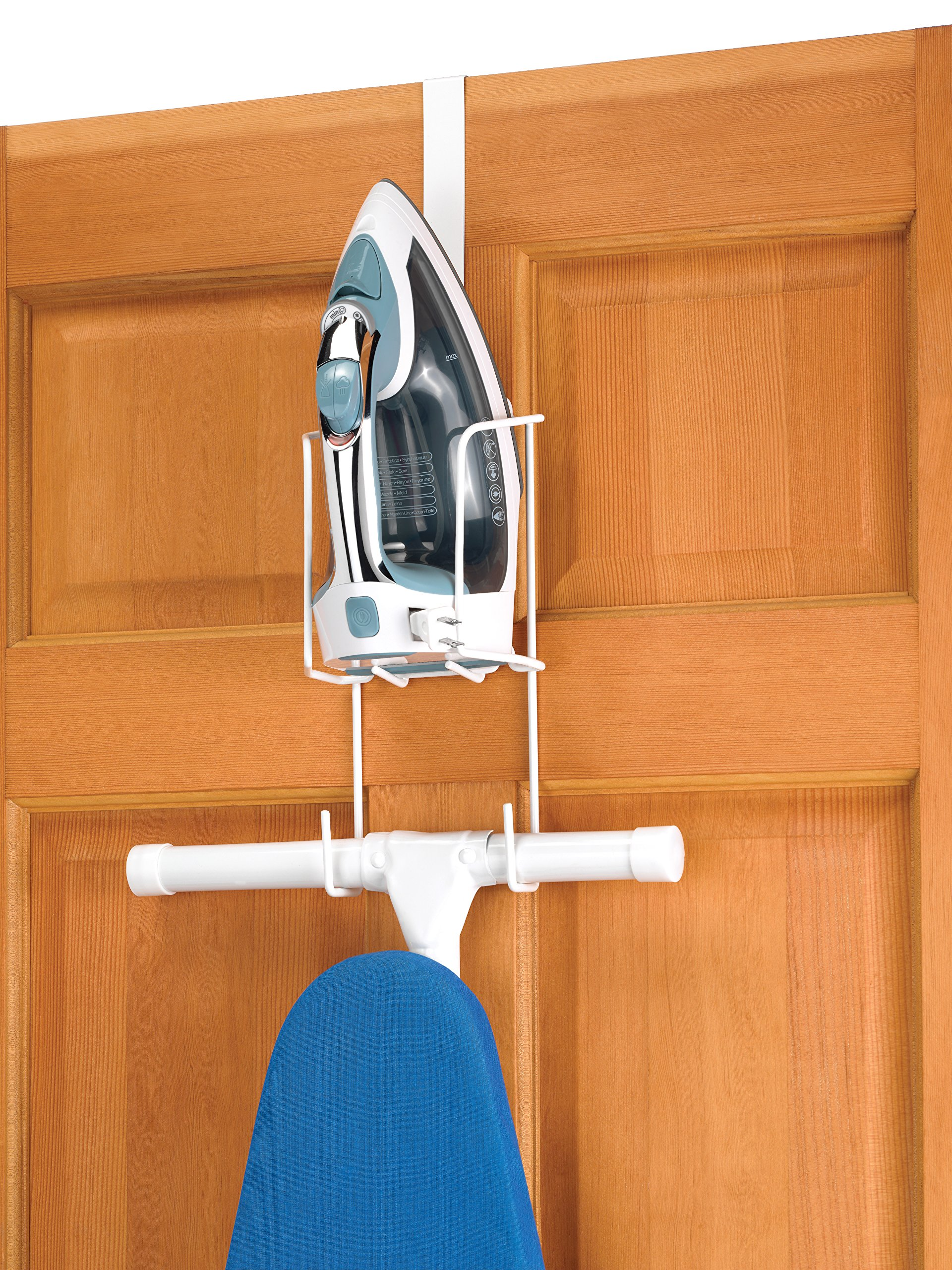Whitmor Wire Over The Door Ironing Caddy - Iron and Ironing Board Storage Organizer product image