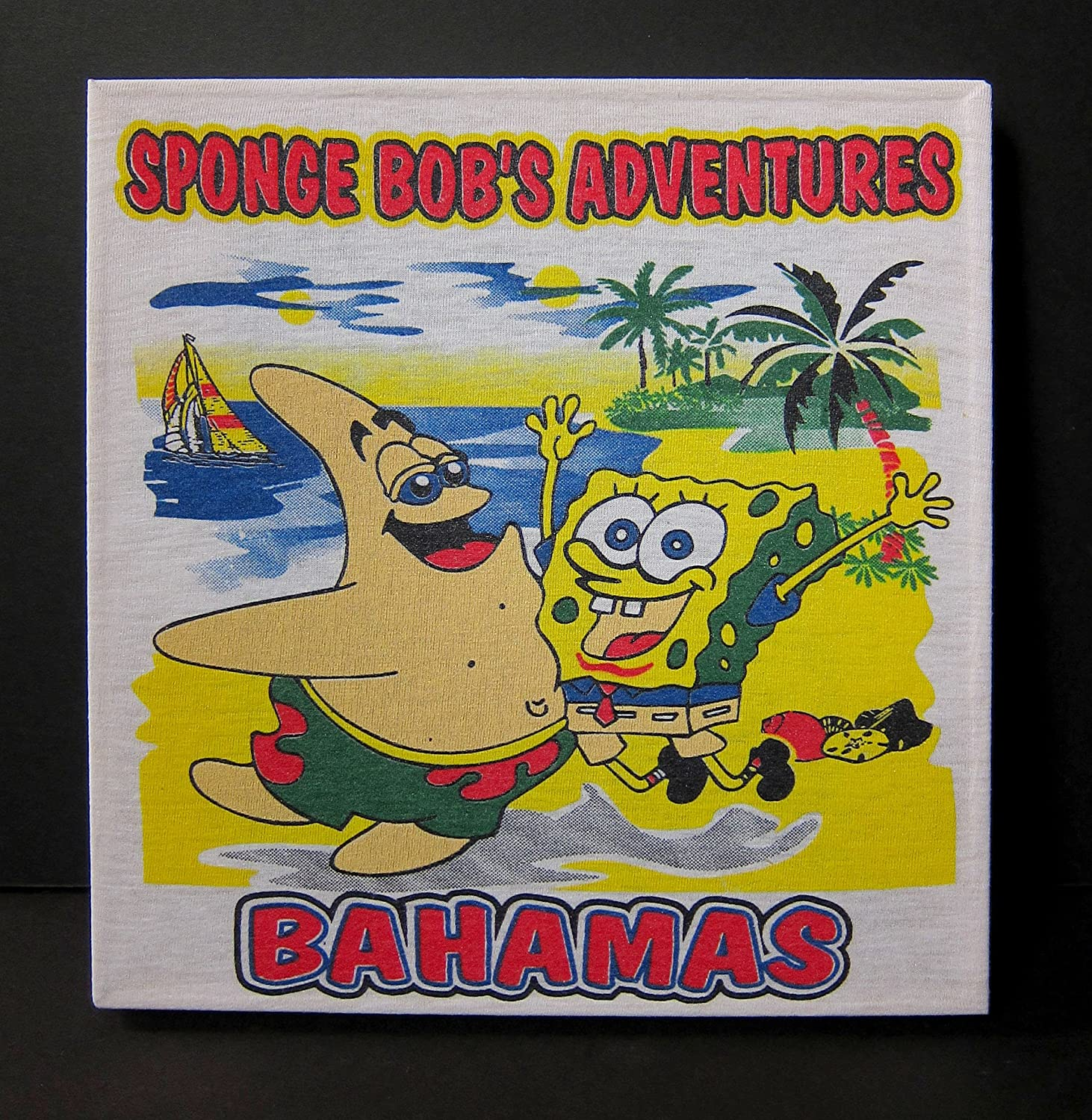 Amazon.com: SpongeBob Square Pants bootleg Bahamas T-shirt ...