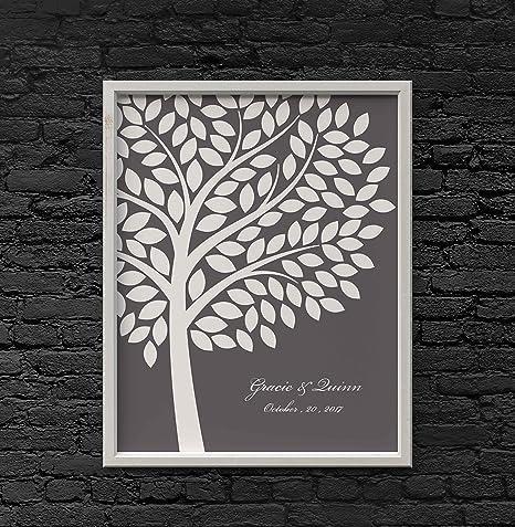 Amazon.com : Wedding Fingerprint Tree Thumbprint Tree Canvas DIY ...