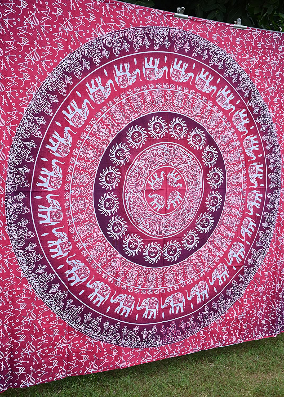 Amazoncom Apoorvau0027s Pink Ombre Mandala Tapestry Hippy