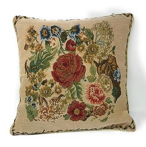 Amazon.com: Tache 1 pieza 18 x 18 inch Colorful Floral País ...