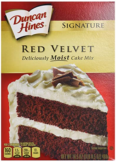 Amazoncom Duncan Hines Signature Red Velvet Cake Mix 165 Ounces