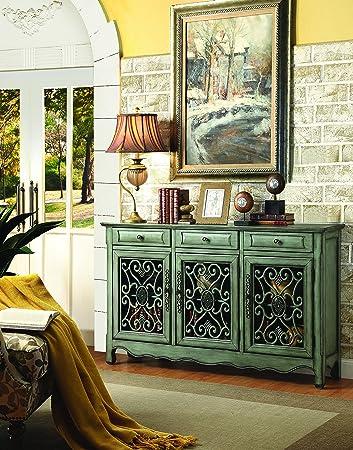 coaster home furnishings 950357 accent cabinet antique green amazon com  coaster home furnishings 950357 accent cabinet      rh   amazon com