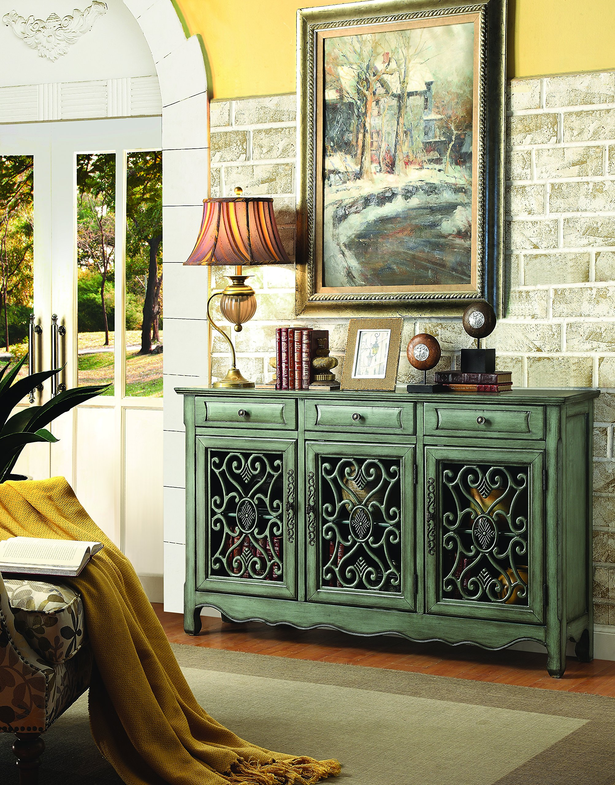 Coaster Home Furnishings 950357 Accent Cabinet, Antique Green