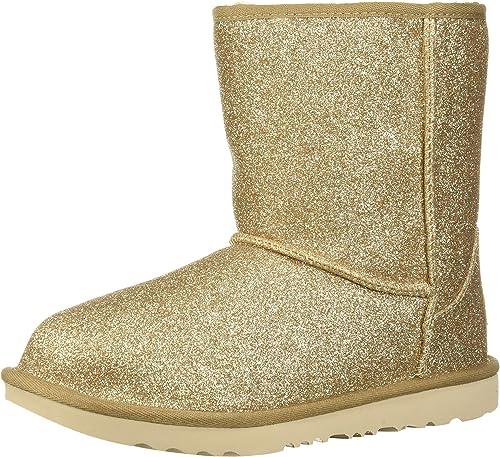 short glitter boots