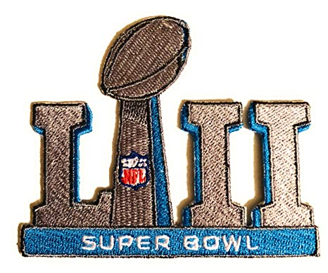 1c07c1ea14e Image Unavailable. Image not available for. Color: Football 2018 Super Bowl  52 LII Patch with Color NFL ...