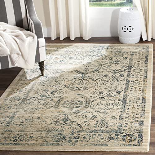 Safavieh Evoke Collection EVK513F Vintage Beige and Turquoise Area Rug 9' x 12'