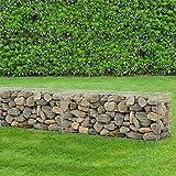 [pro.tec] 1x gabions (40 x 100 x 30 cm) gabions en pierre, mur en pierre, paroi en pierre, espaliers