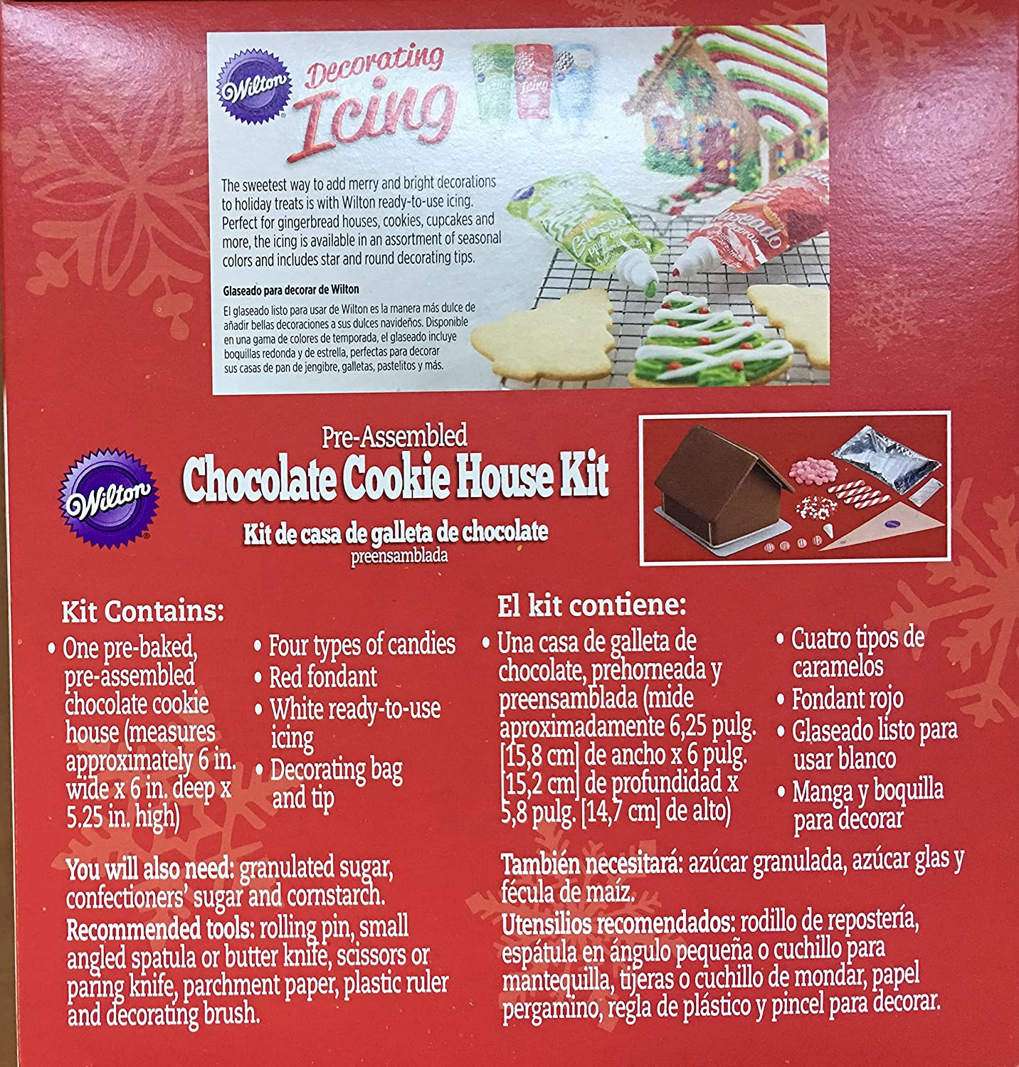 Amazon.com : Wilton Pre-Assembled Chocolate Cookie House Kit including Free Online Cake Decorating Class : Grocery & Gourmet Food