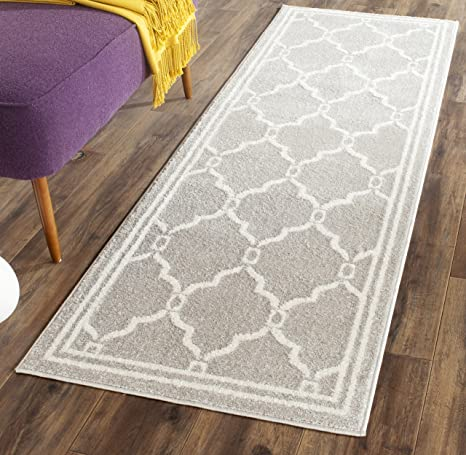 Amazon.com: Safavieh Amherst Collection AMT414B Light Grey and Ivory ...