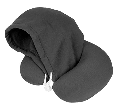 HoodiePillow® Brand (Inflatable) Travel Pillow - Black