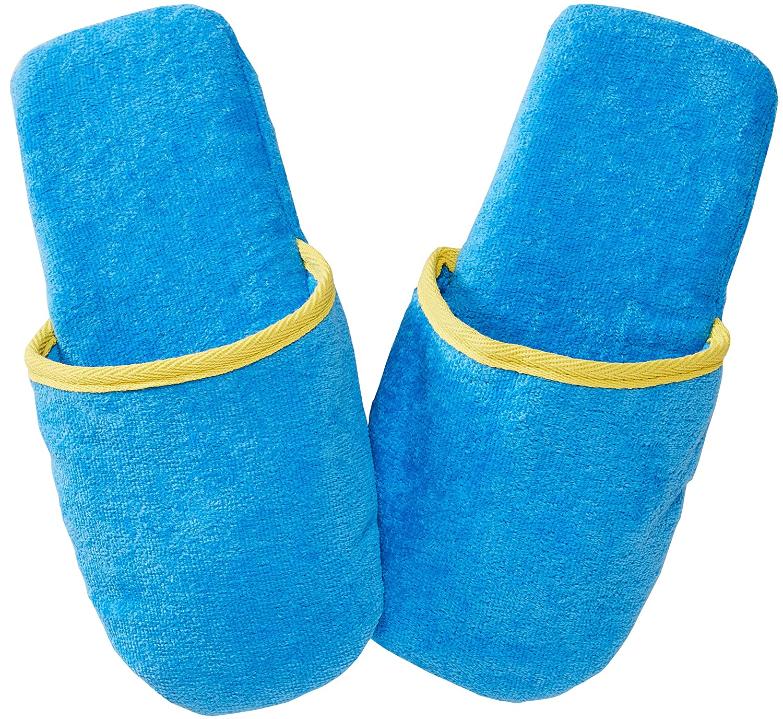 vendite all'ingrosso sconto più basso nuovi stili Sowel® Ciabatte da Bagno in Spugna Bianco/Blu 100% Cotone Donna et ...
