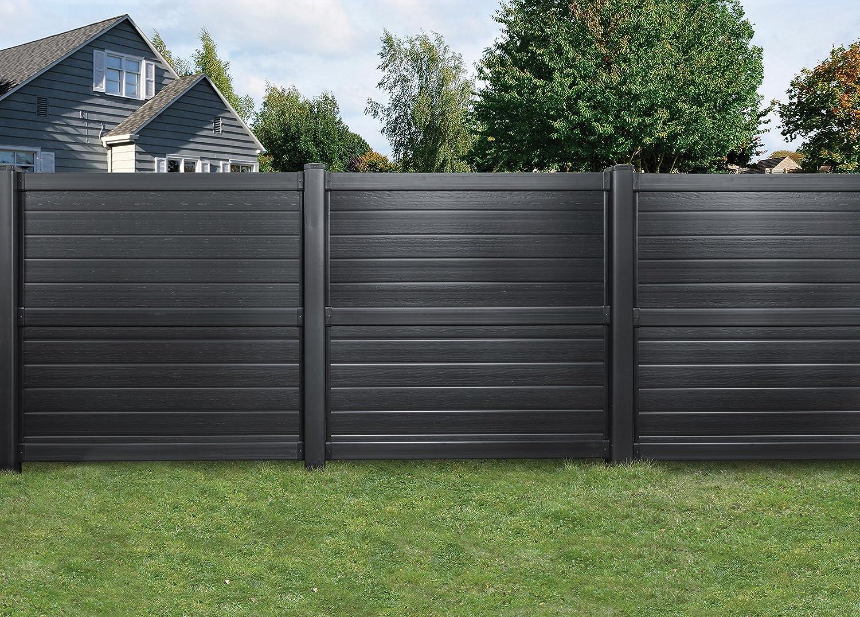 Barriere de jardin amazing hauteur de clture with for Palissade pvc gris