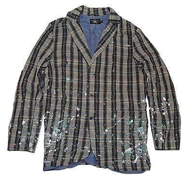196c8541d677 Ralph Lauren Polo RRL Mens Sport Coat Blazer Jacket Blue Plaid USA Medium