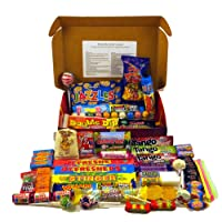 A Quarter Of Already Wrapped Bumper Retro Sweets Selection Box, 730g