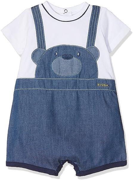 Brums 181BBFZ005, Mono Corto Para Bebe-Niños, Azul (Denim 289), 68 cm: Amazon.es: Ropa y accesorios