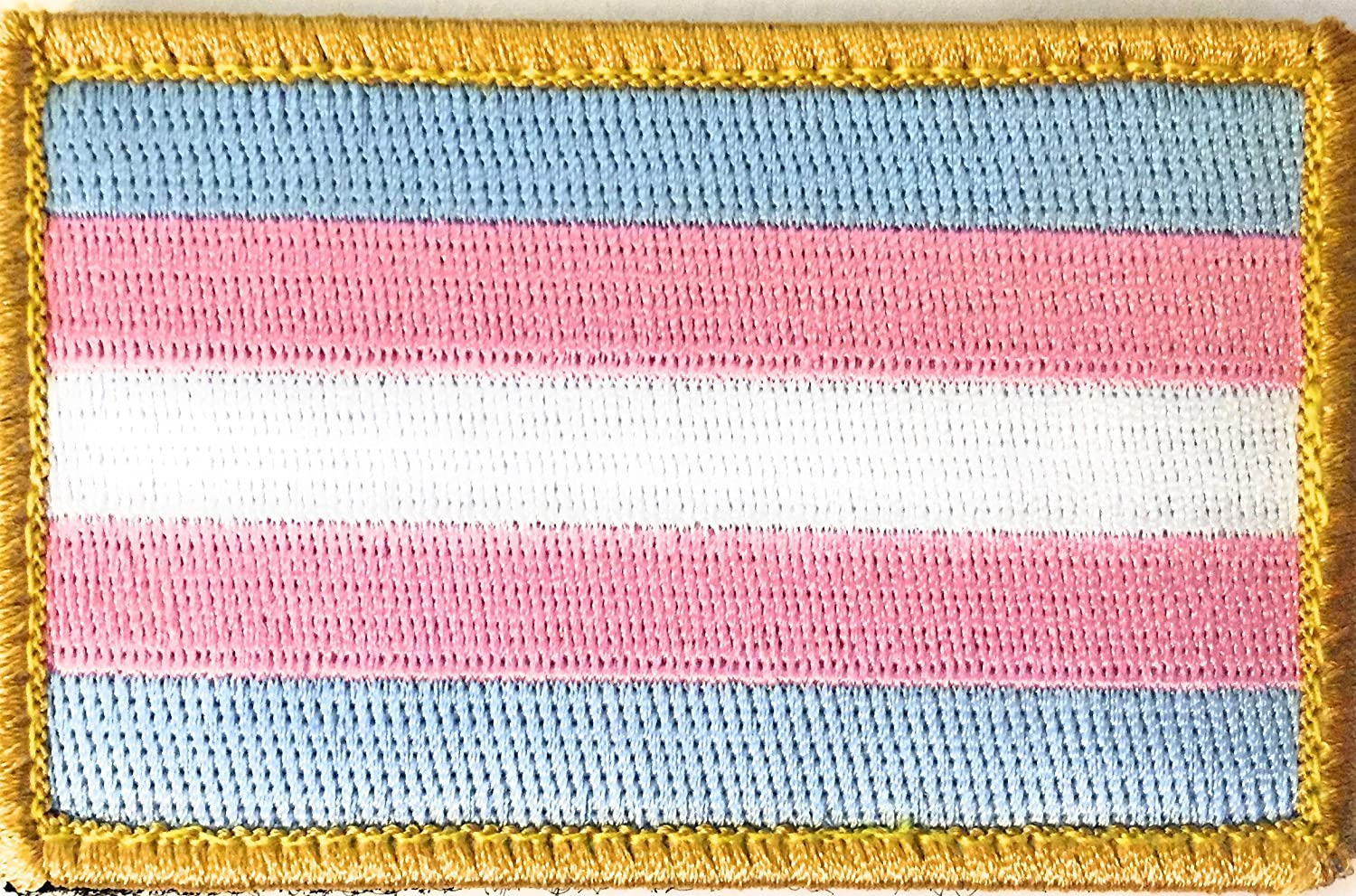 Small Transgender Flag Iron On or Sew On Patch 2.5 x 1.5 inch LGBTQ