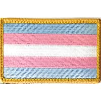 Transgender Flag Patch for LGBTQ Community and Supporters with Hook/Loop Backing