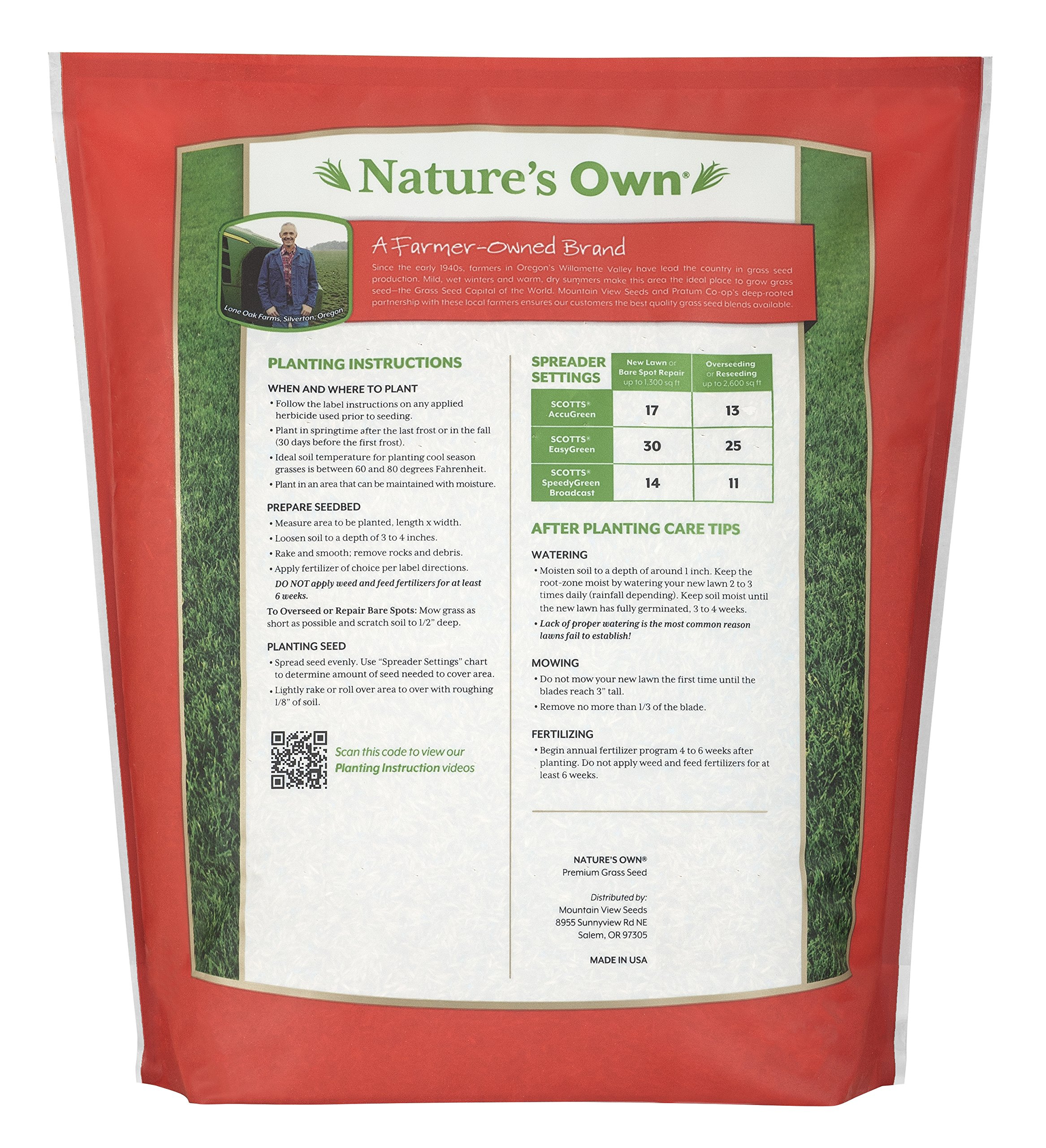Mountain View Seeds Natures Own Sun & Shade Mix Grass Seed, 18-pounds by Mountain View Seed (Image #2)