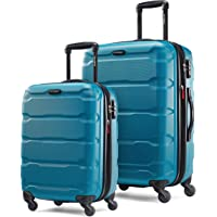 Samsonite Omni PC Hardside Expandable Luggage with Spinner Wheels, Carribbean Blue, 2-Piece Set (20/24)