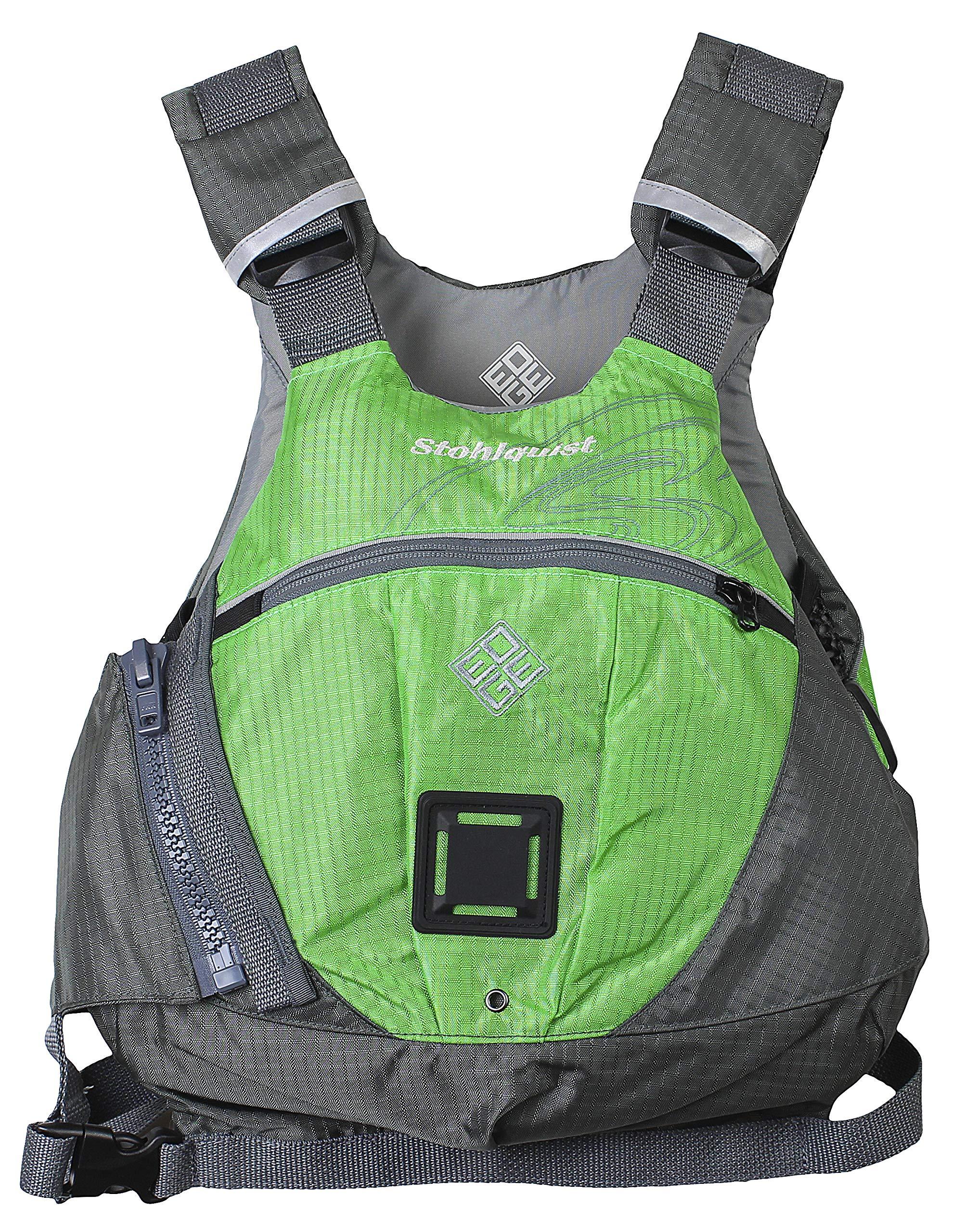 Stohlquist Edge Life Jacket, Lime Green/Gray, Small/Medium