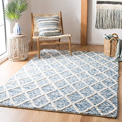 Safavieh Natura Collection NAT711B Hand-woven Area Rug, 6 x 9 , Ivory Blue
