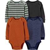 Simple Joys by Carter's Boys' 4-Pack Long-Sleeve Thermal Bodysuits