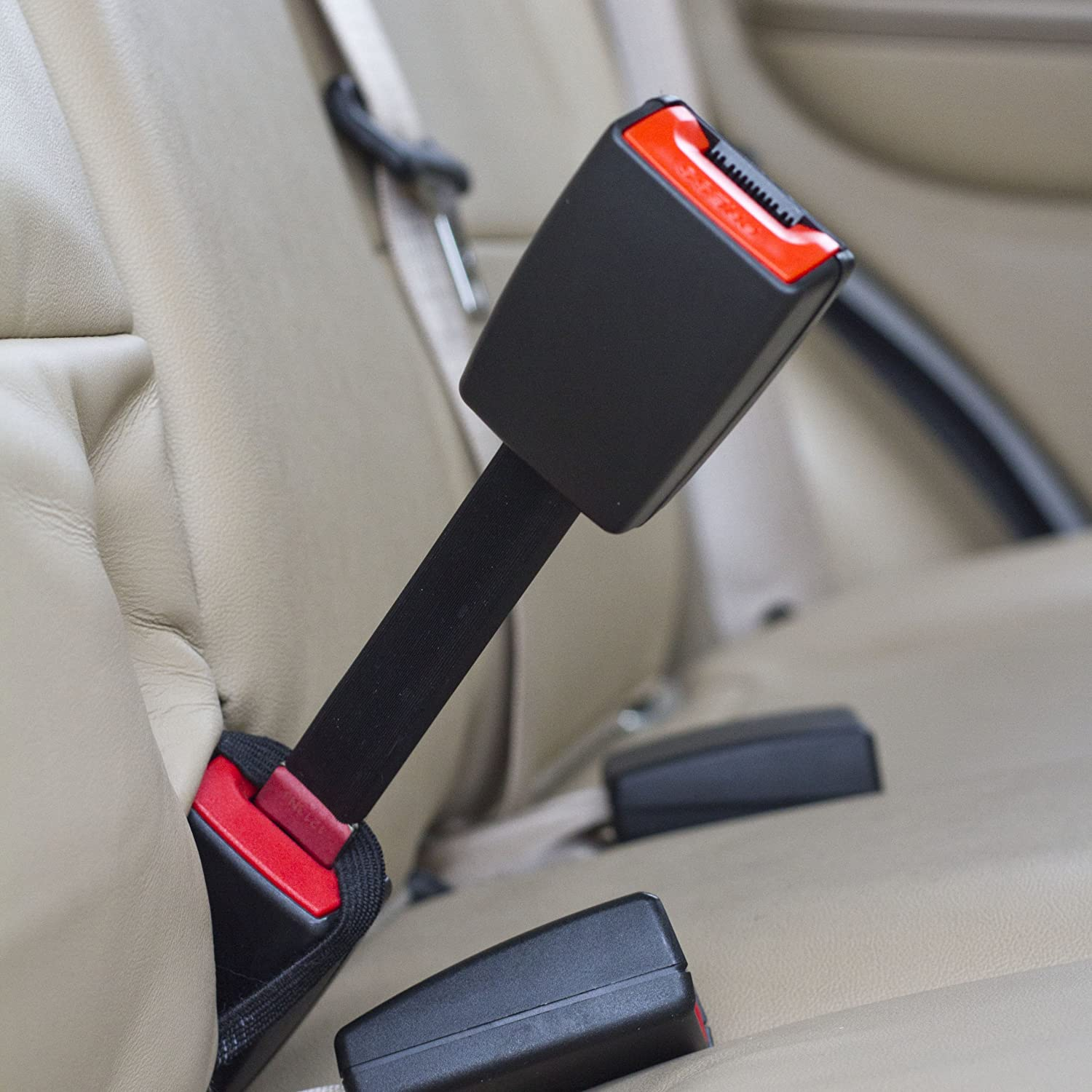 - E-Mark Safety Certified Irregular - Type B: 1 Tongue Width Buckle Up /& Drive Safely Rigid 7 Seat Belt Extending Accessory
