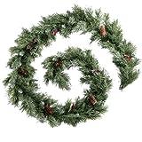 WeRChristmas 9 feet Scandinavian Blue Spruce Christmas Garland with Pine Cones