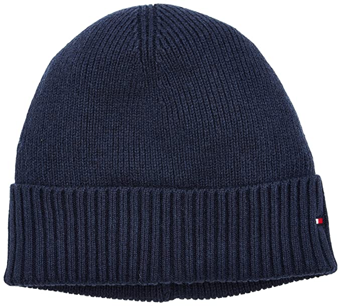 bf1a8d03 Tommy Hilfiger Pima Cotton Cashmere Beanie Hat, Navy One Size ...