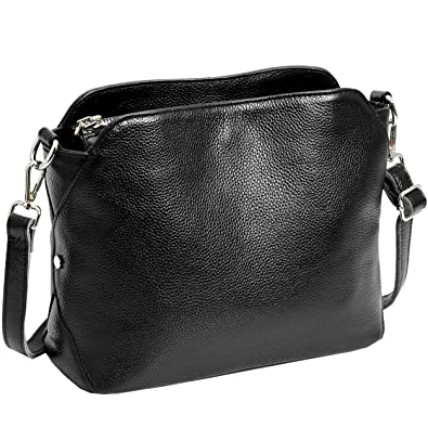62ae8efbb1 Amazon.com  Kenoor Small Shoulder Bag Leather Handbags Purse Crossbody for  Women (Black)  Shoes
