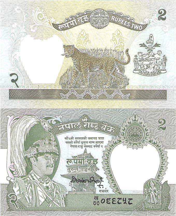 2 rupias (Birendra)  billetes para coleccionistas / Banco de Nepal / UNC Condición / Calidad perfecta: Amazon.es: Juguetes y juegos
